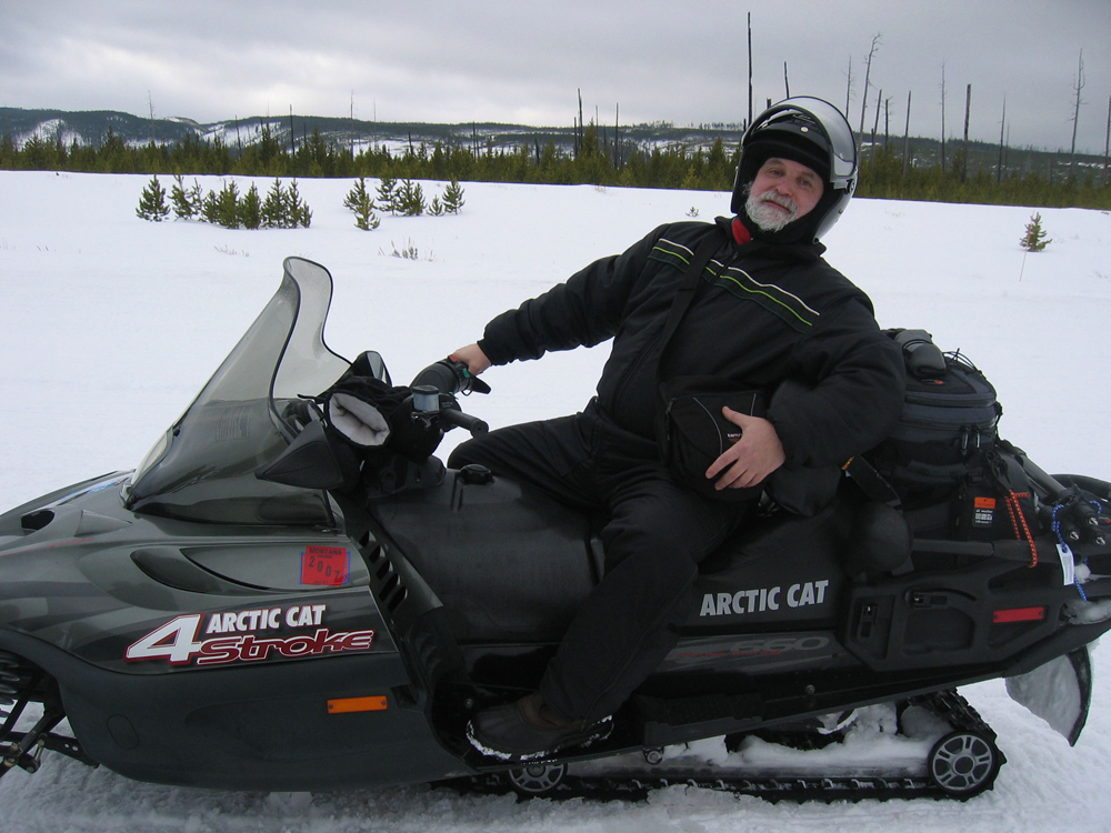 He knows how to drive snowmobiles