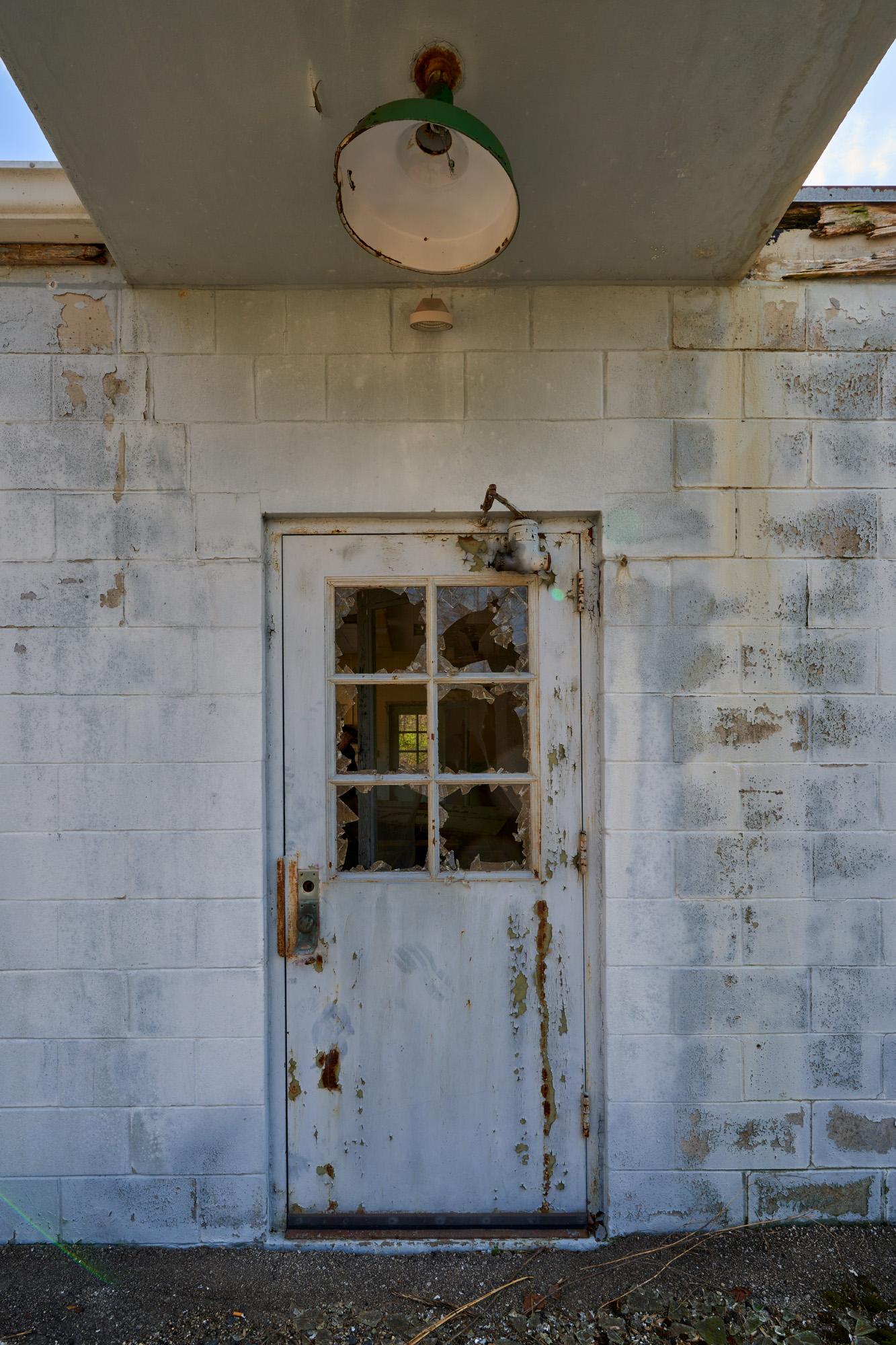 The door to the machine shop