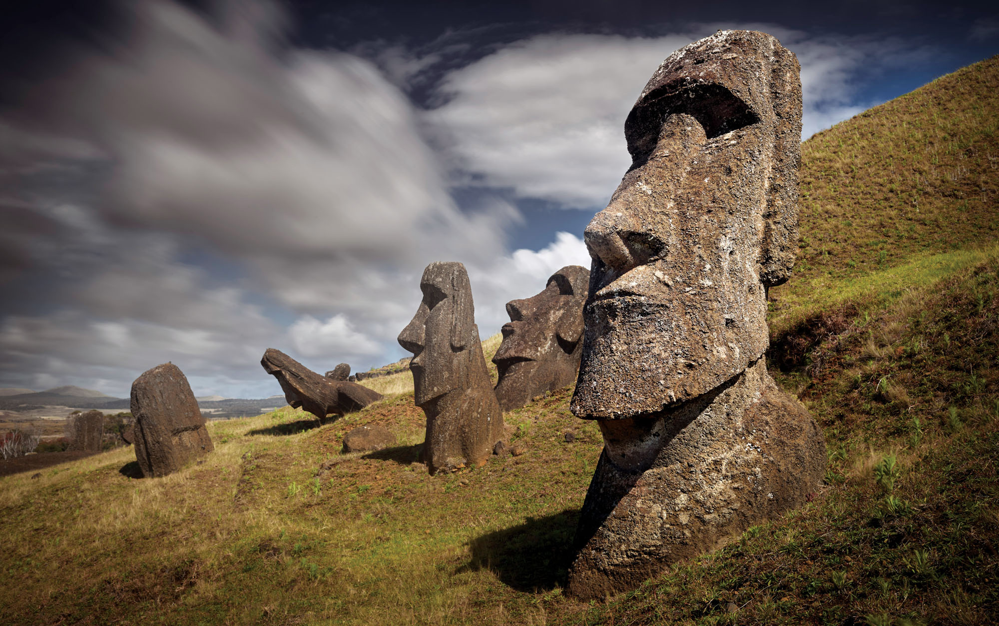 You know you're talking travel photography when you see the stone heads of Easter Island. Phase One XF, IQ180, Schneider 55mm lens, f14@ 30 seconds, ISO 35.