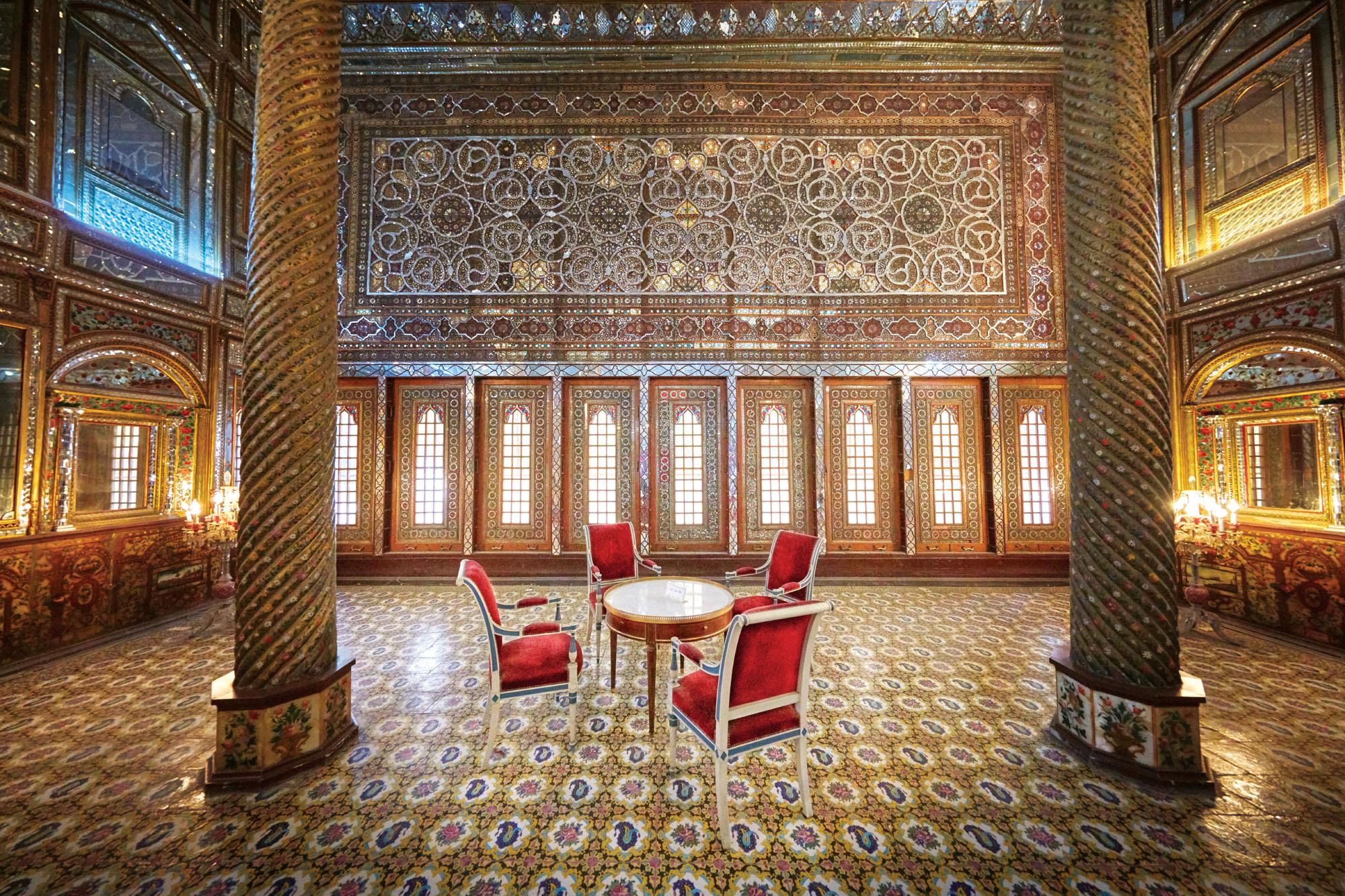 Golestan Palace, Tehran, Iran. Canon EOS 5DSR, 11-14mm lens, f5 @ 1/40 second, ISO 3200.