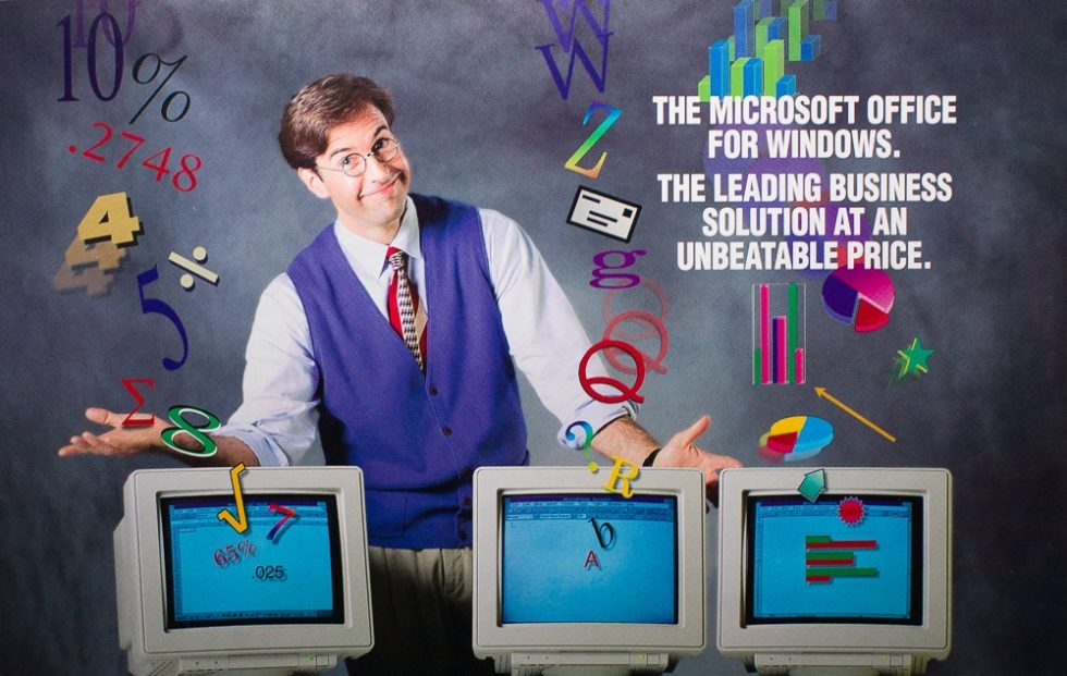 Ad for Microsoft