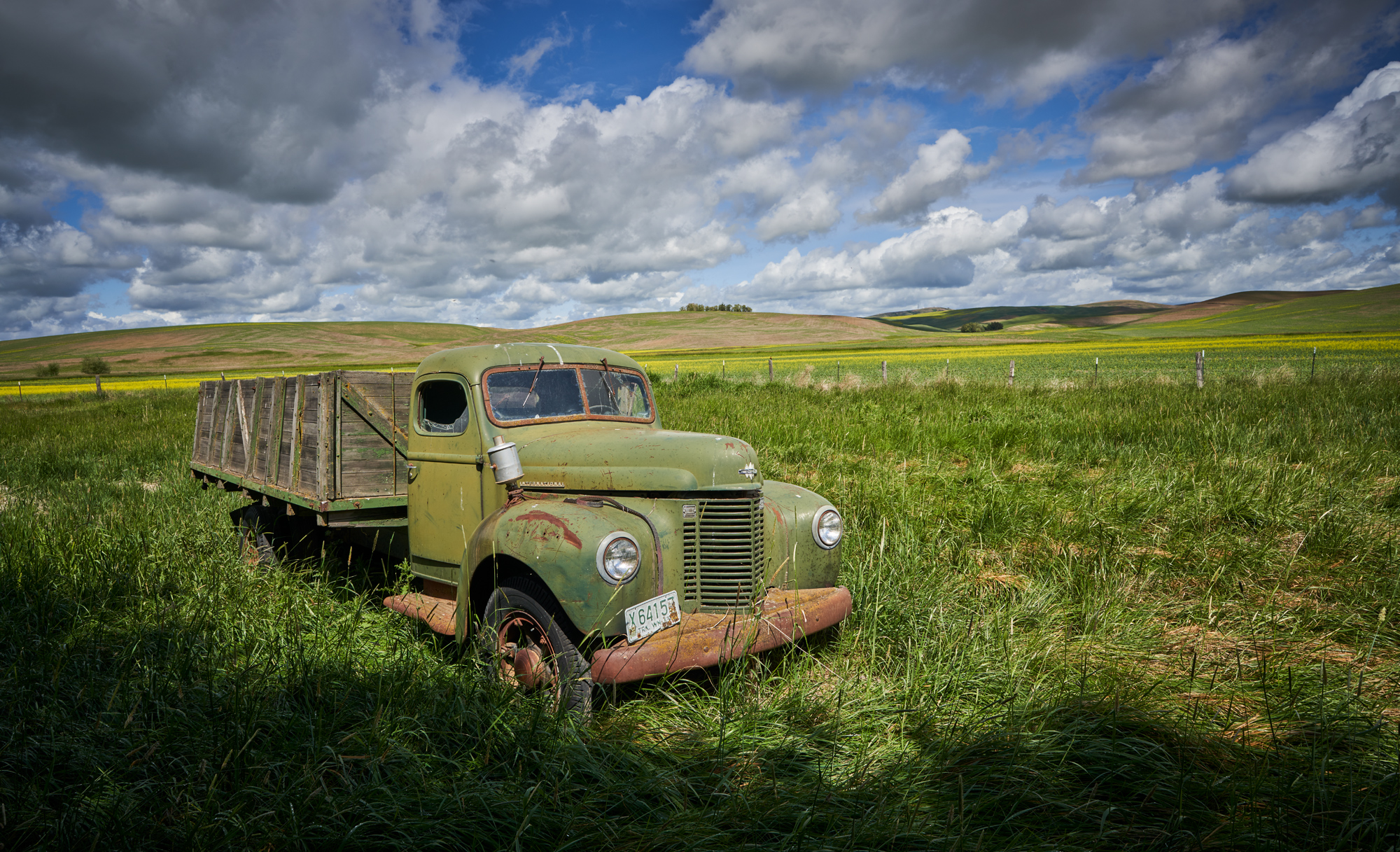Abandoned trucks and cars are also part of the Palouse. every one of them has a story.