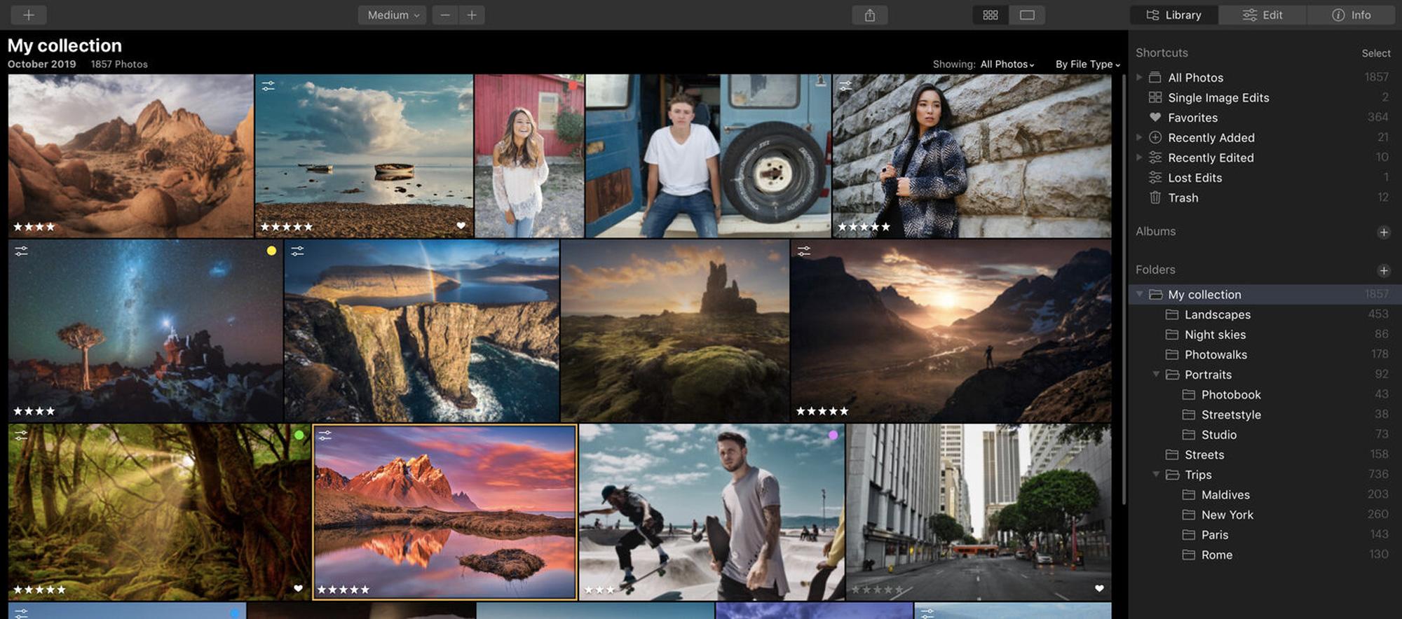 photo management tool Luminar