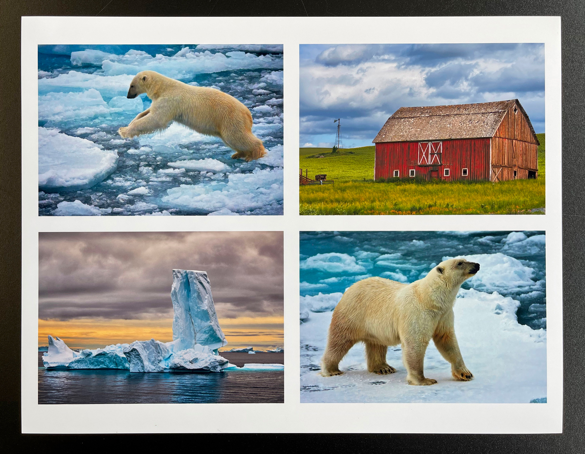 Photo package templates that are printed directly from the control panel