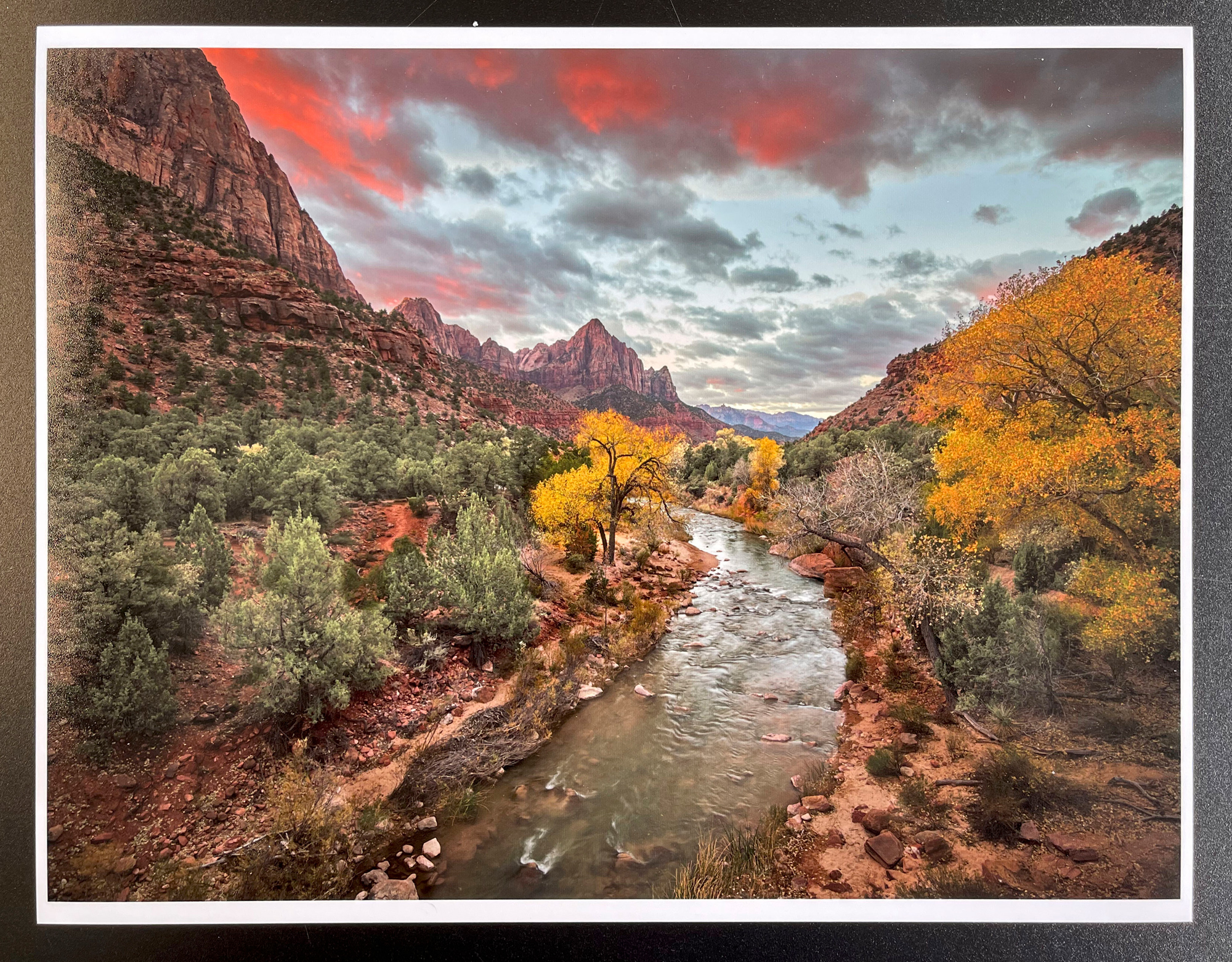 Zion NAtional Park. Letter size print made on the ET-8550