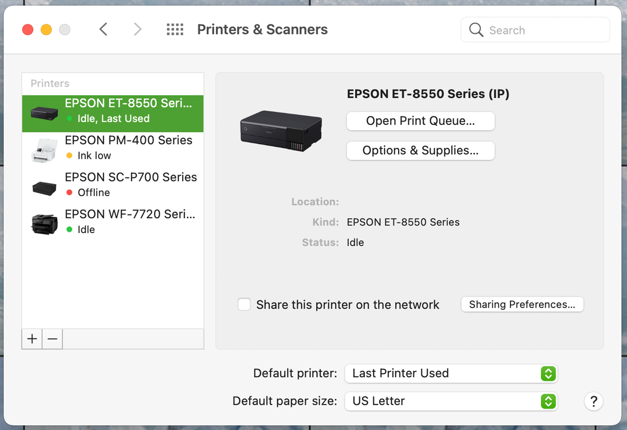 On the MAC you want to make sure not to use the AirPrint version