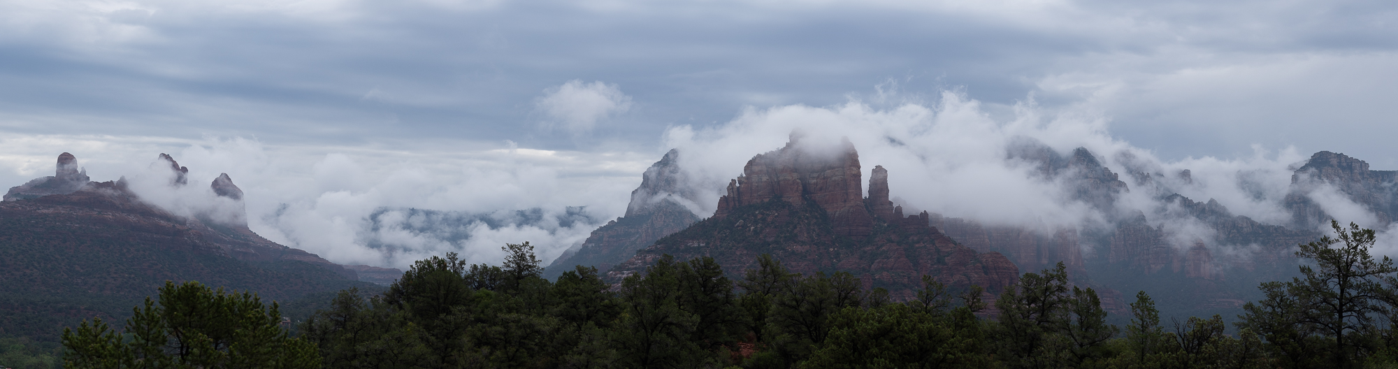 """""""Monsoon Clouds Over the Mogollon Rim"""", RAW image"""