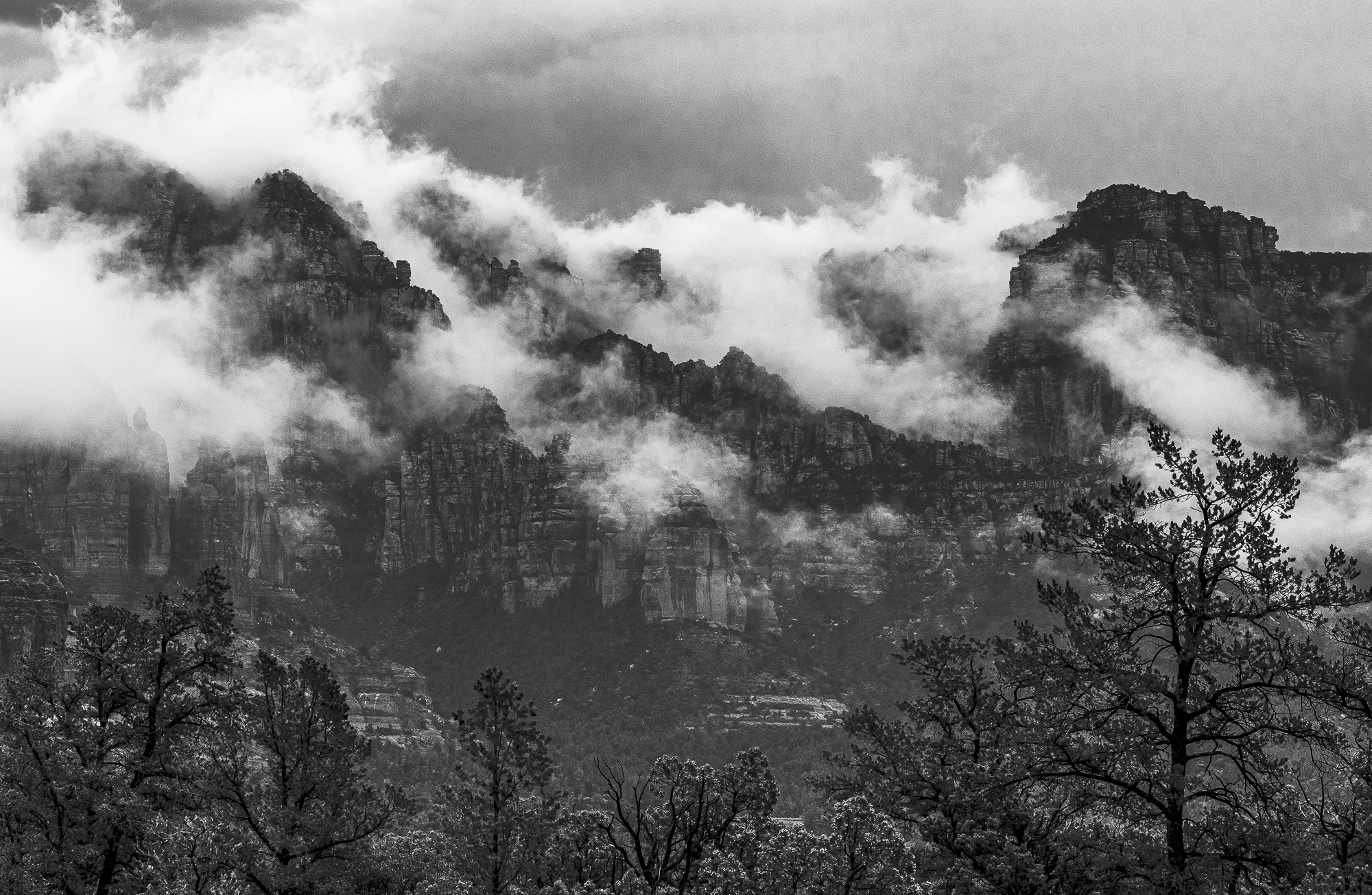 Monsoon Clouds Over the Munds Mountain Wilderness