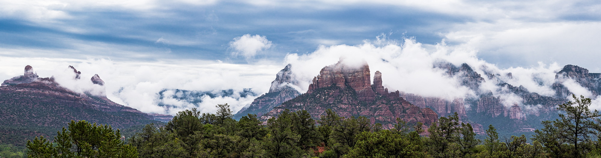 """""""Monsoon Clouds Over the Mogollon Rim"""", 2nd edit"""