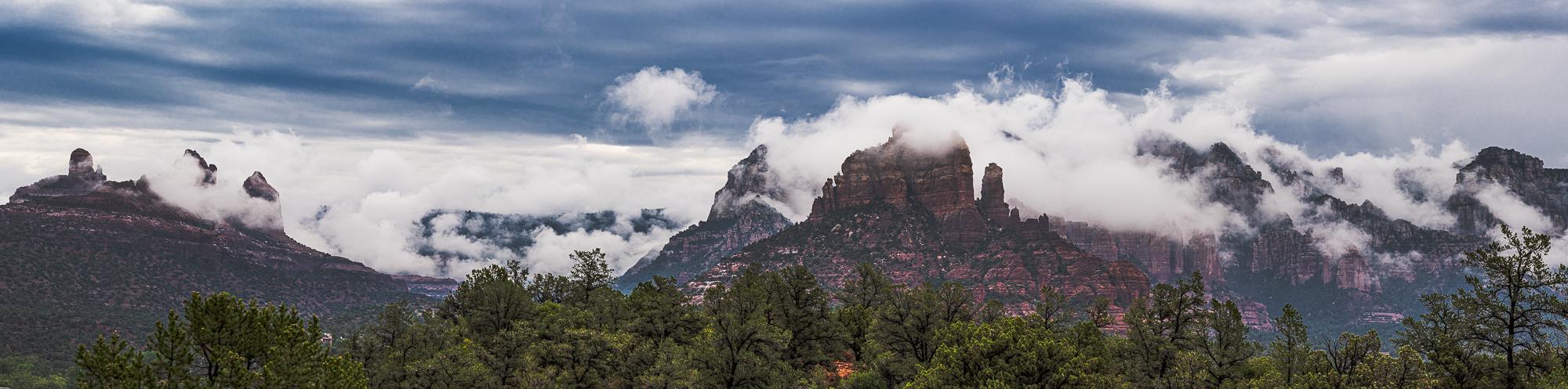 "Insert caption: ""Monsoon Clouds Over the Mogollon Rim"", 3rd edit"