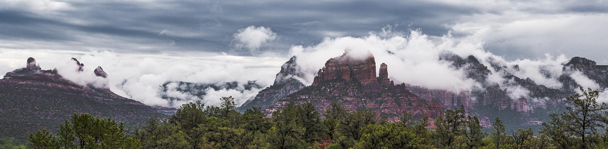 """Monsoon Clouds Over the Mogollon Rim"", 4th edit"