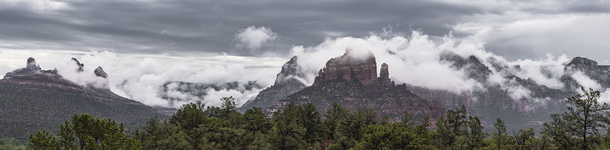 Monsoon Clouds on the Mogollon Rim