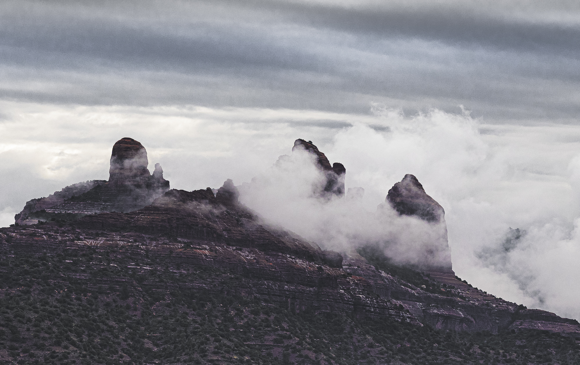 Monsoon Clouds Over Carrousel Rock