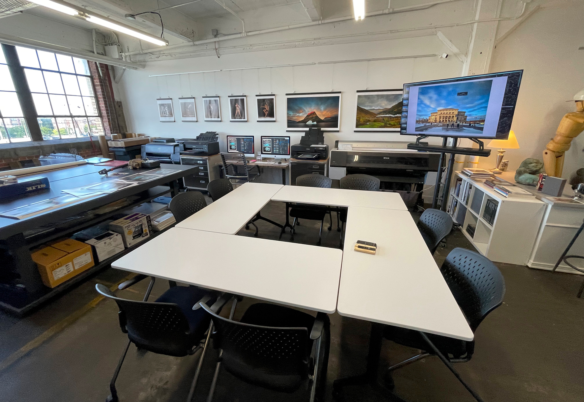 Our classroom tables can be configured in a few ways