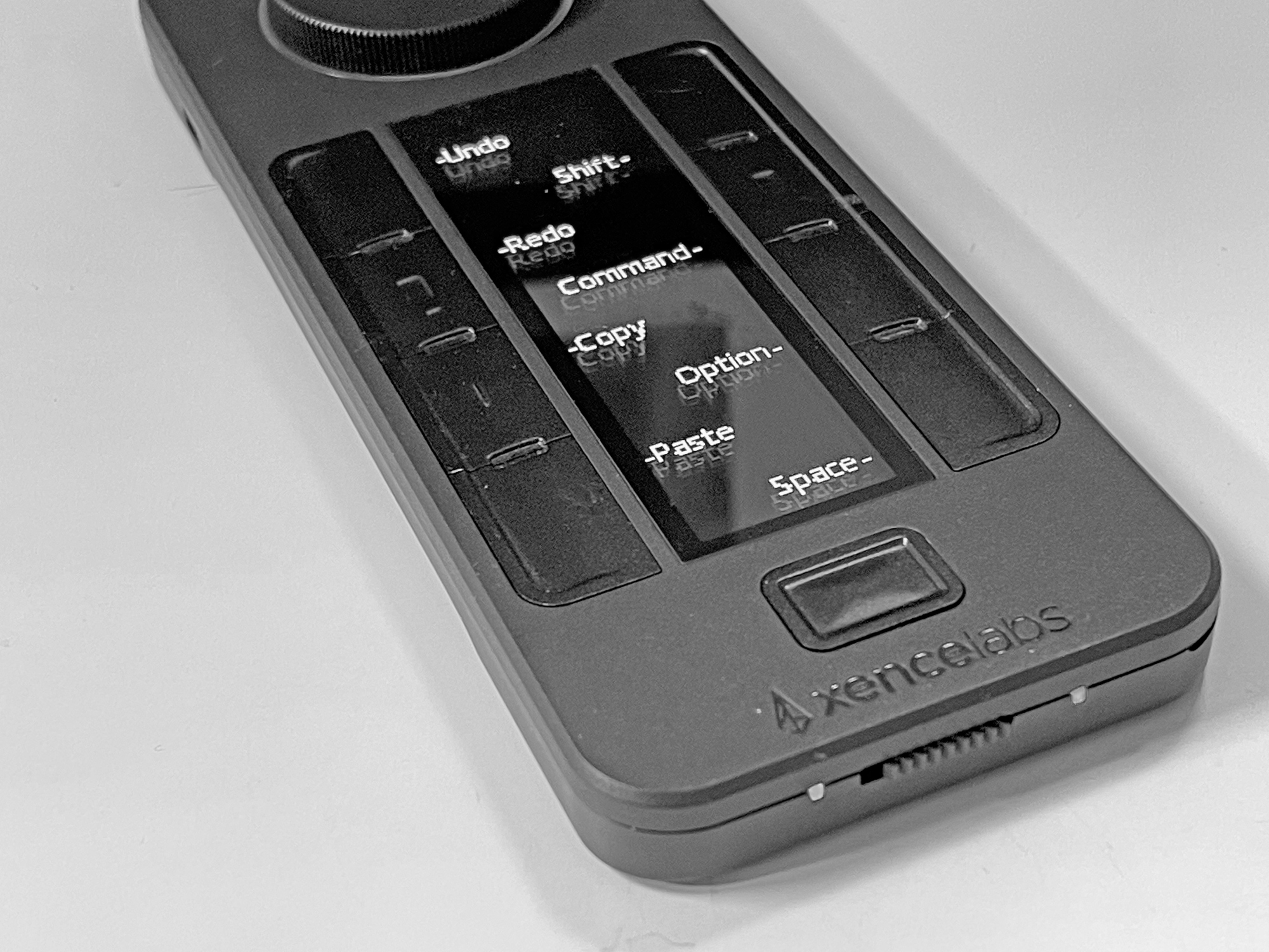This is the remote with controls set for the buttons. I use the wheel for zooming.