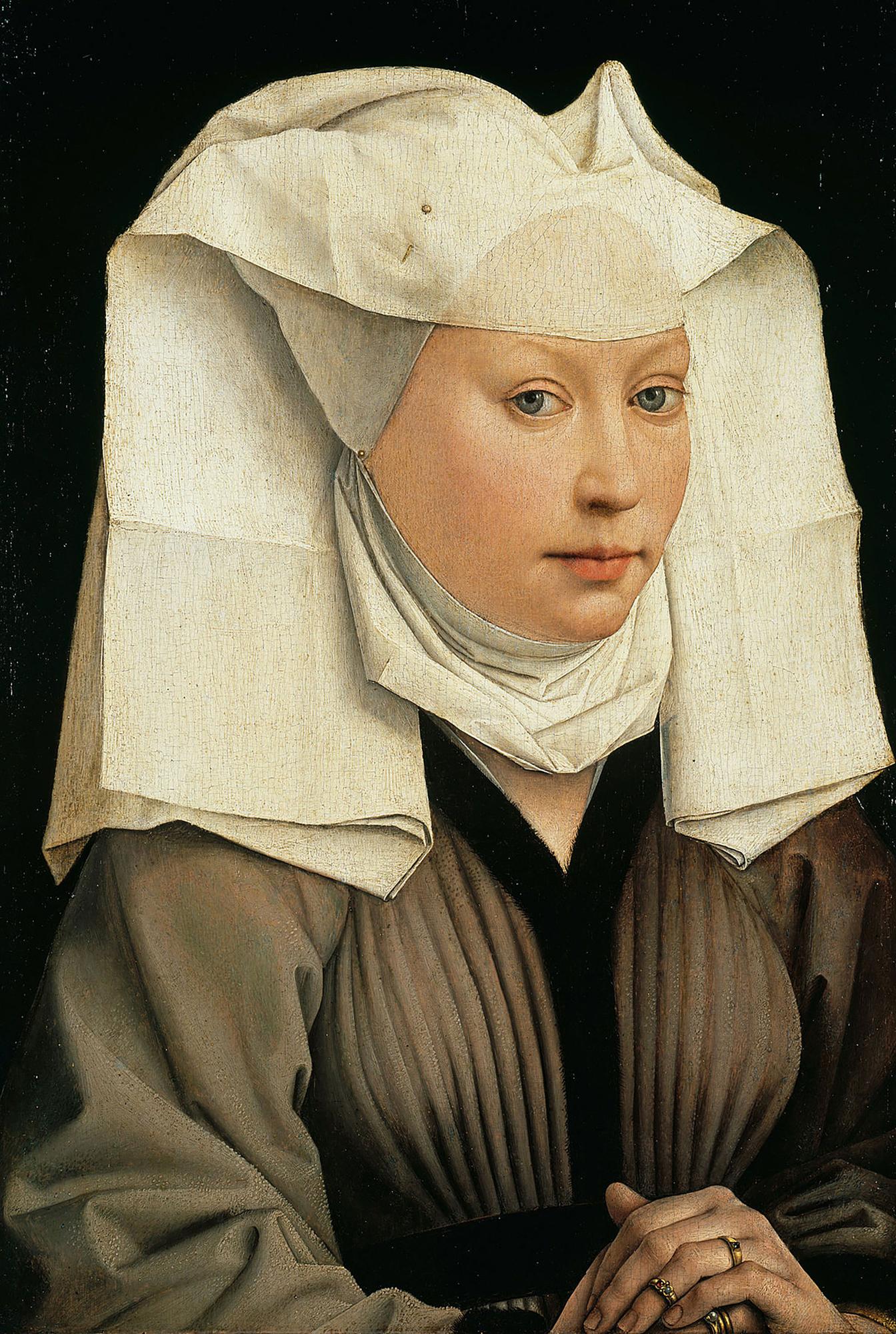 Portrait of a Woman with a Winged Bonnet -Rogier van der Weyden, 1435