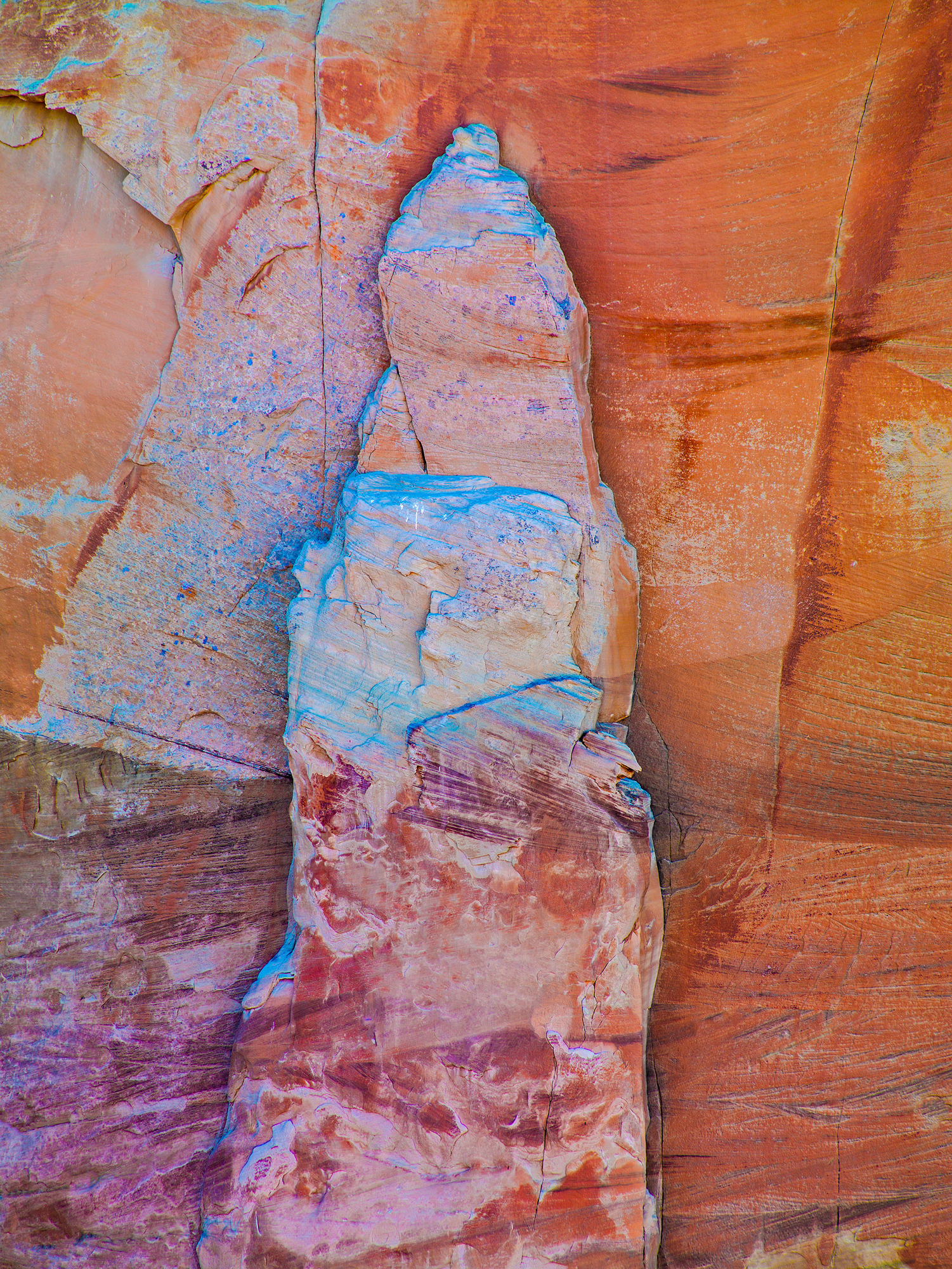 Canyon Wall in Purple and Orange Tones