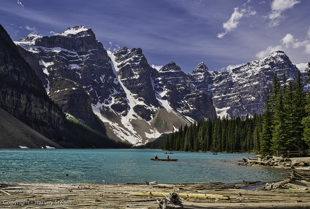 Moraine Lake, Banff, NP, the jewel of the Canadian Rockies