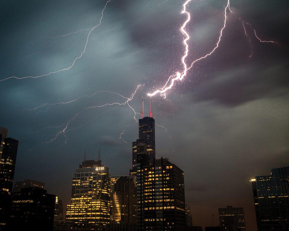 Sears Tower Lightning Strike