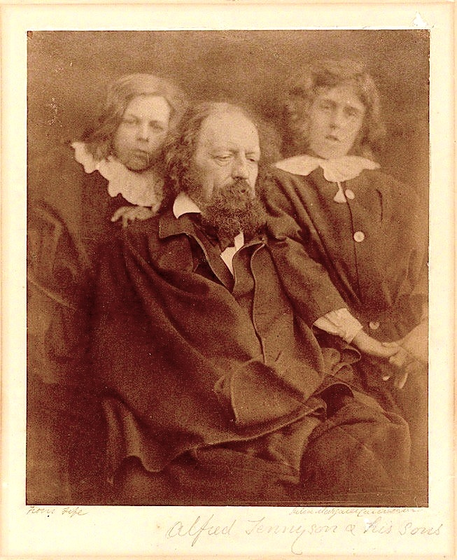 Portrait of Tennyson and sons by Julia Cameron