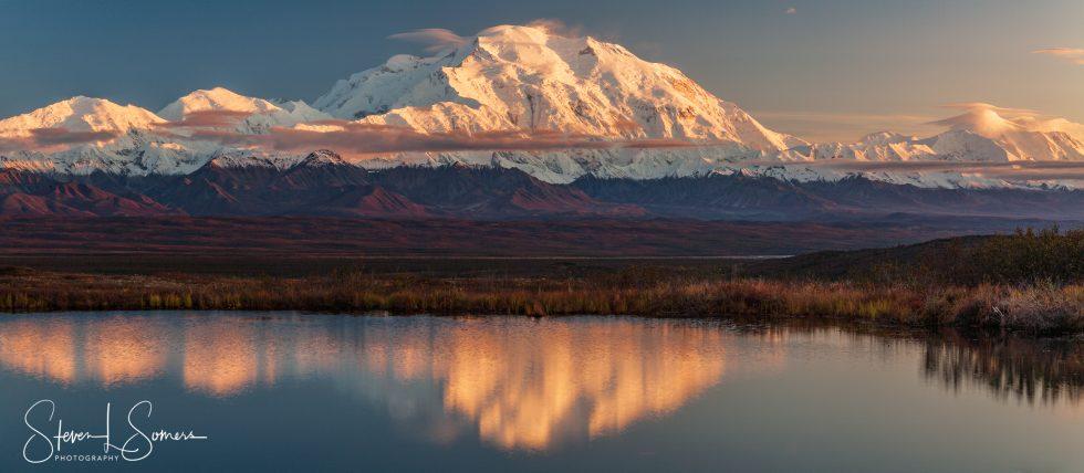 The Denali and the Alaskan Range at Sunset