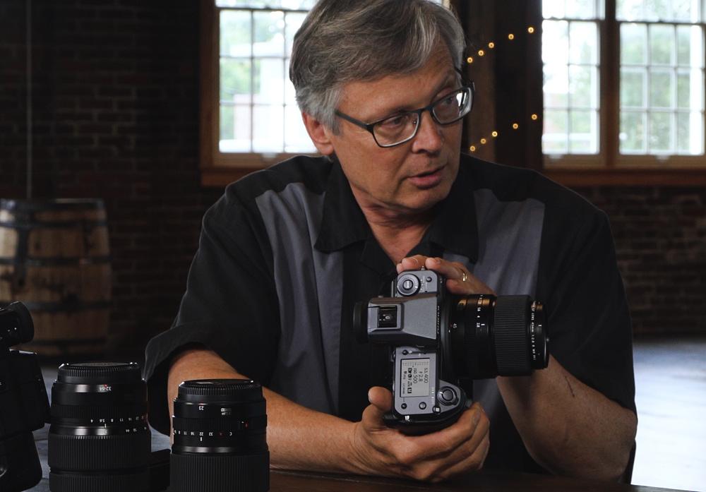 Mike Bolbenko from Fujifilm shows us the Fujifilm 100