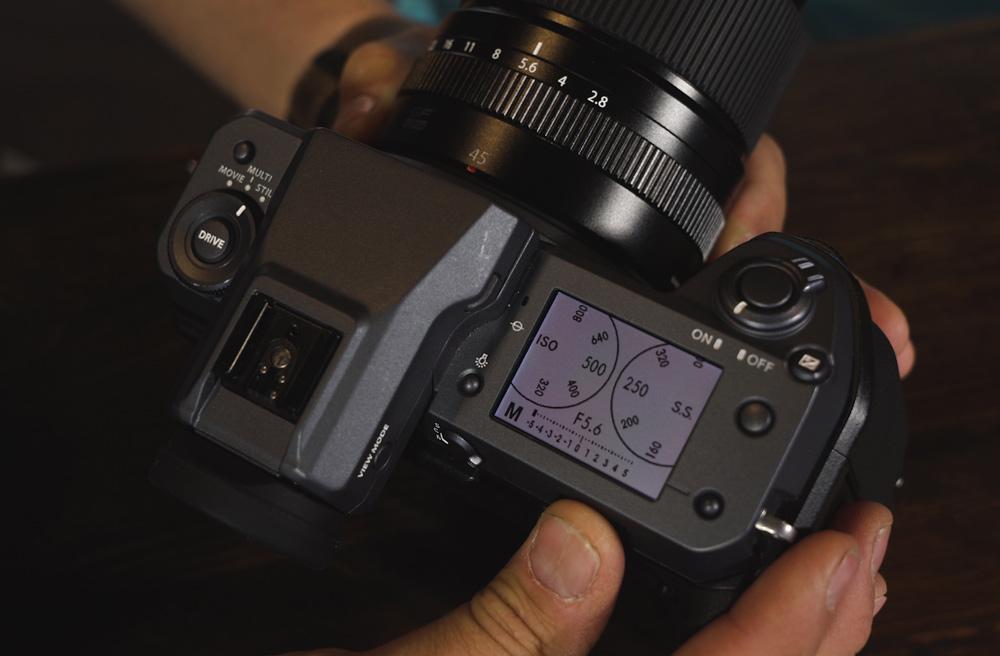 Top down look at the Fujifilm 100