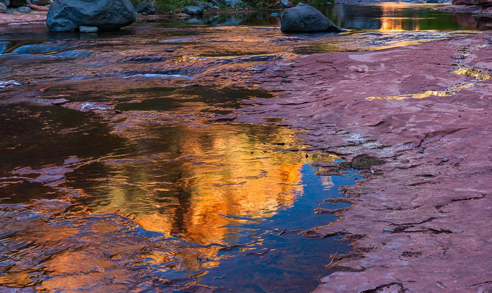 """Sunrise at Slide Rock, Oak Creek, AZ, 2010"""
