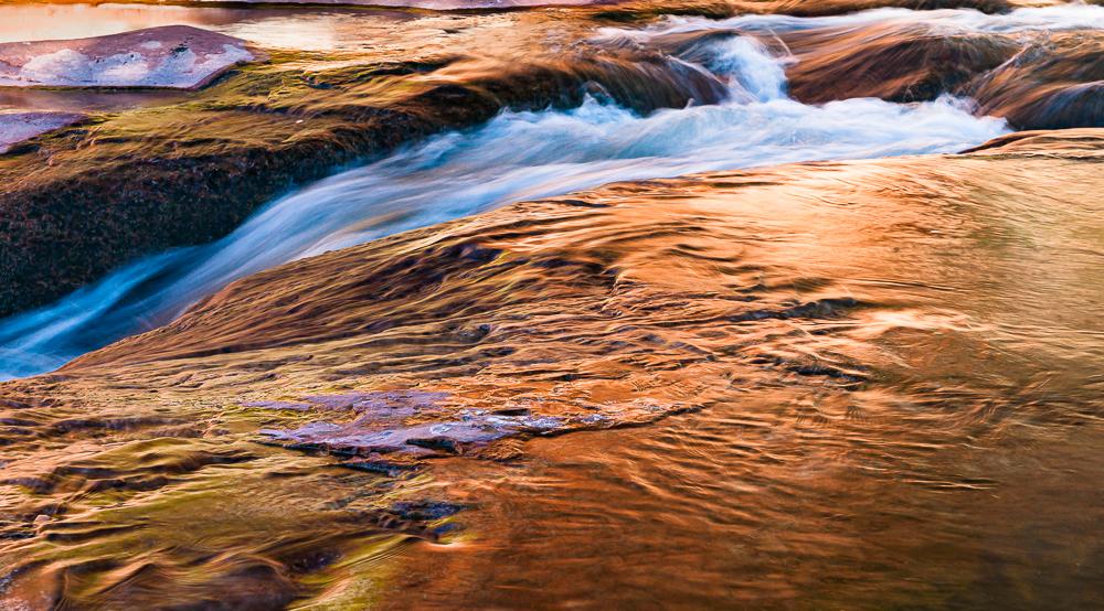 """Oak Creek Abstract at Sunrise, Sedona, 2010"""