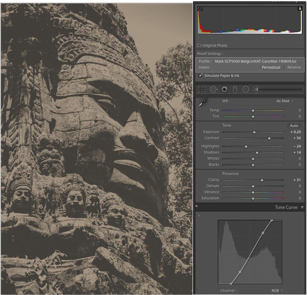 Figure 30-2. Angkor Stone Face – Belgian Linen Natural
