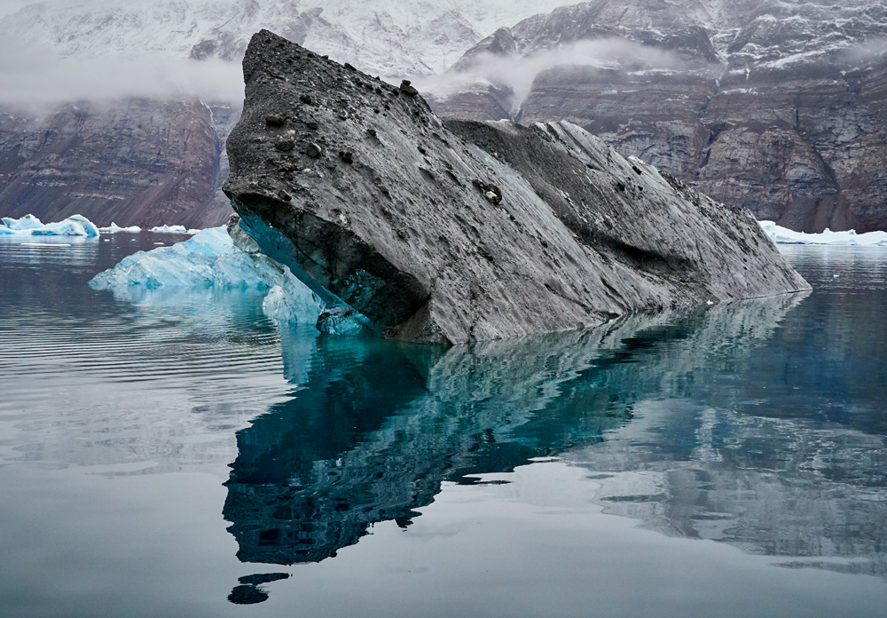 Icebergs that take on their own look