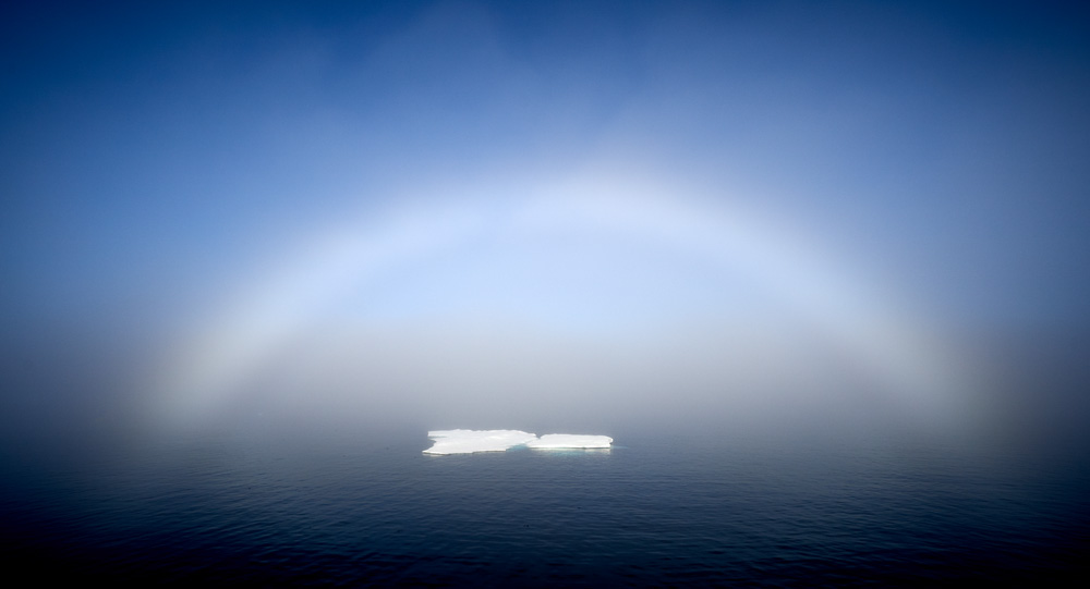 It's not unusual to have morning fog and then you may be lucky enough to get a Fog Bow