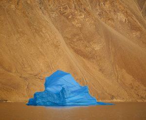 crazy blue icebergs