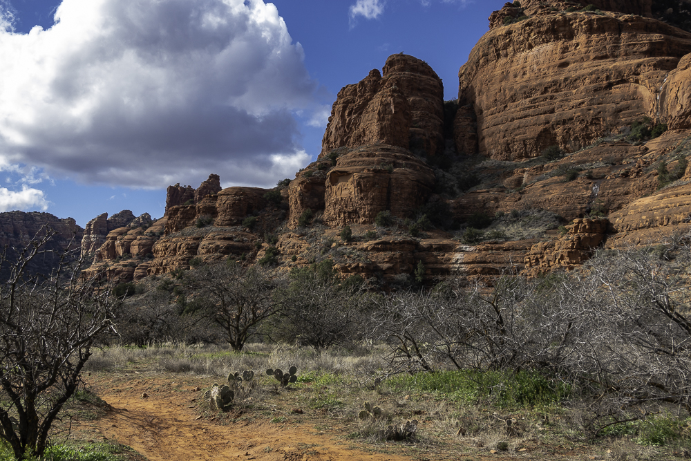 Courthouse Rock and Bell Rock after a brief shower