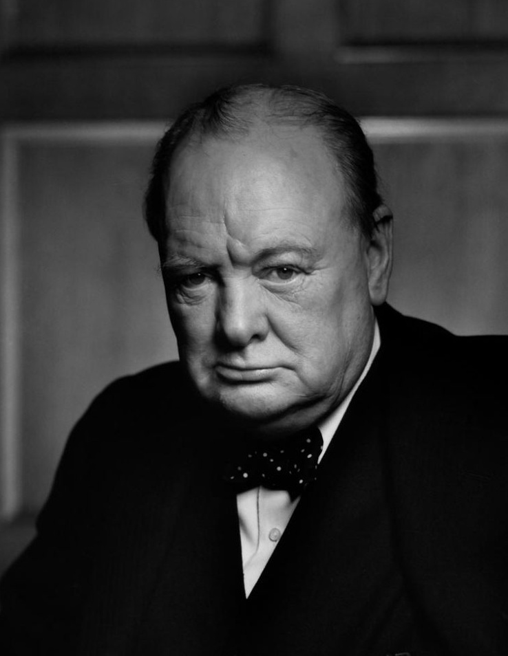 A Crop of a portrait of Winston Churchill - Yousuf Karsh