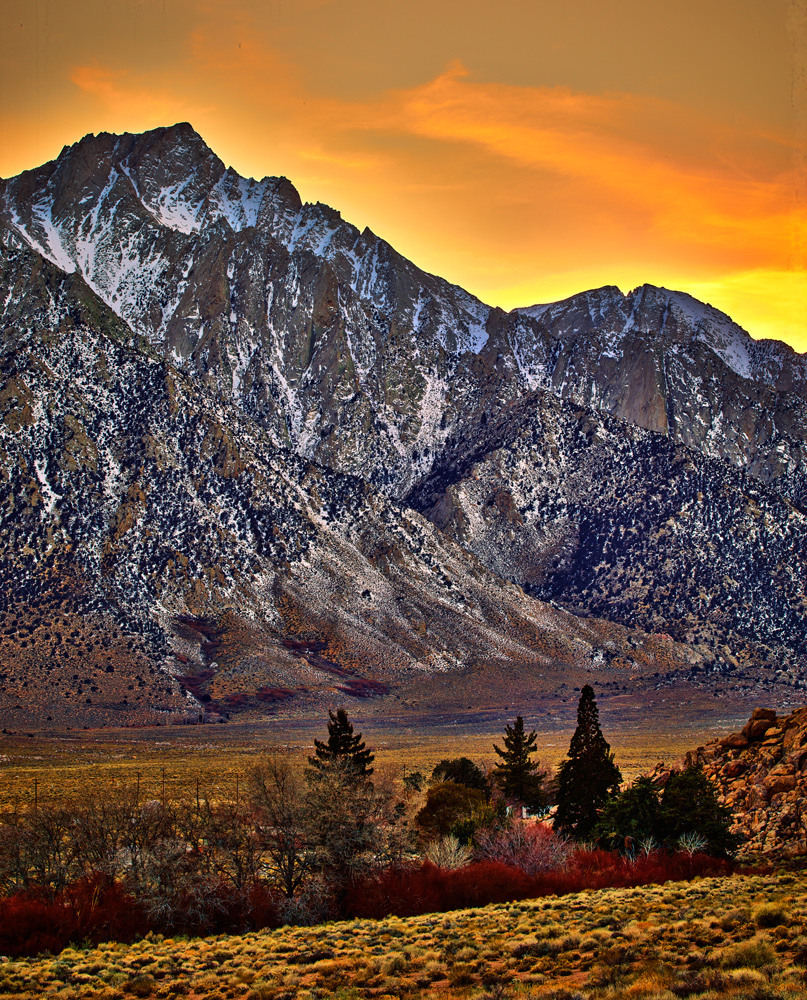 The Alabama Hills, in the Owens Valley