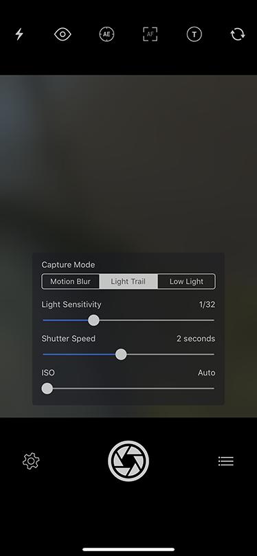 Slow Shutter Cam Camera Settings