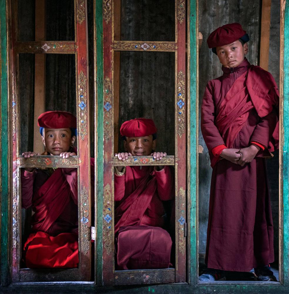 Balancing size and quantity of shapes. Ladakh, India.