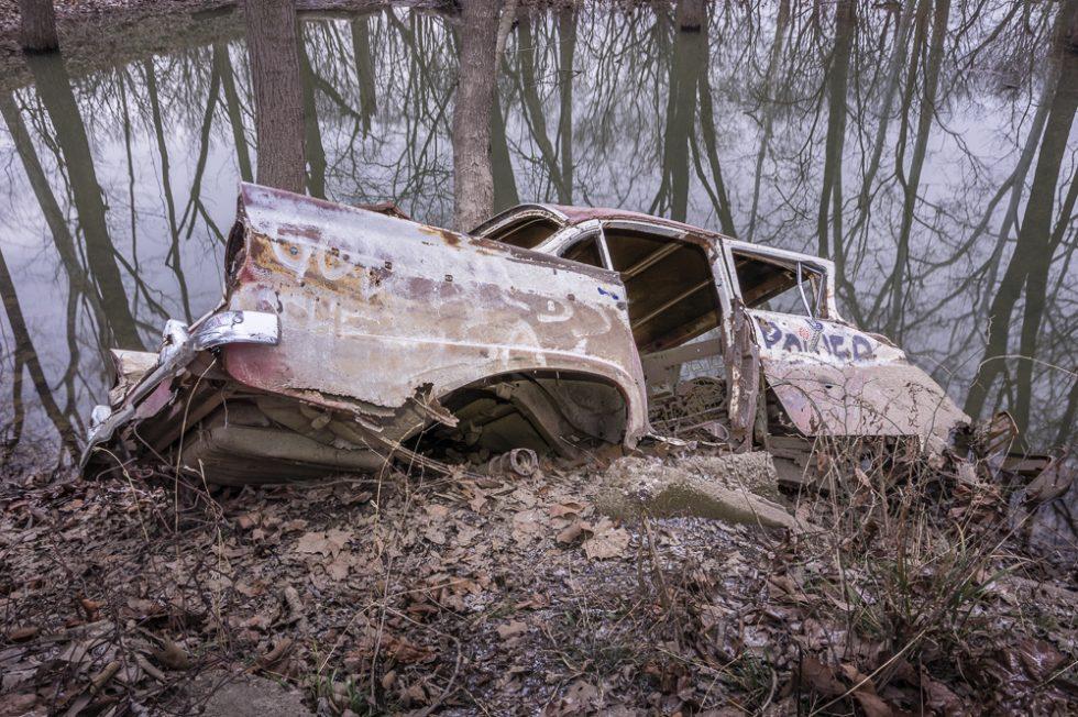 Sinking Old Car