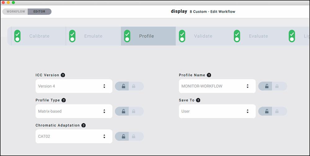 Figure 11. Profile Settings Options