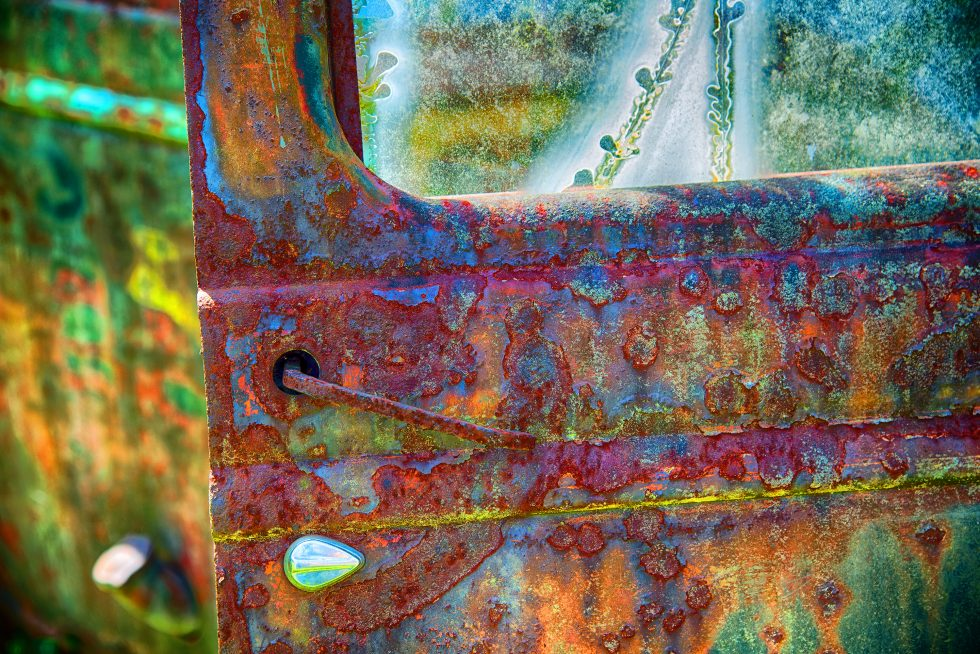 Rusty truck door