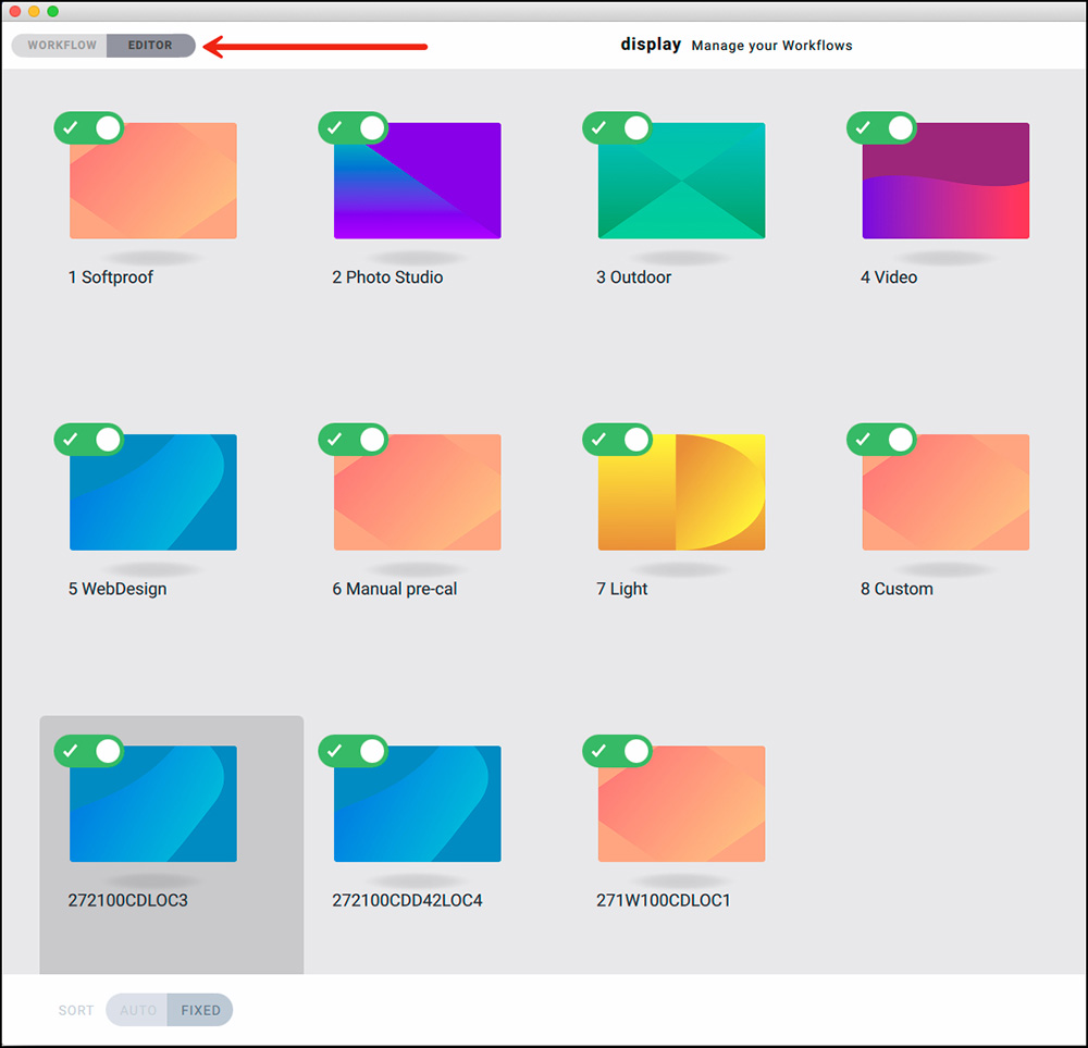 Figure. 3 Workflows for Editing