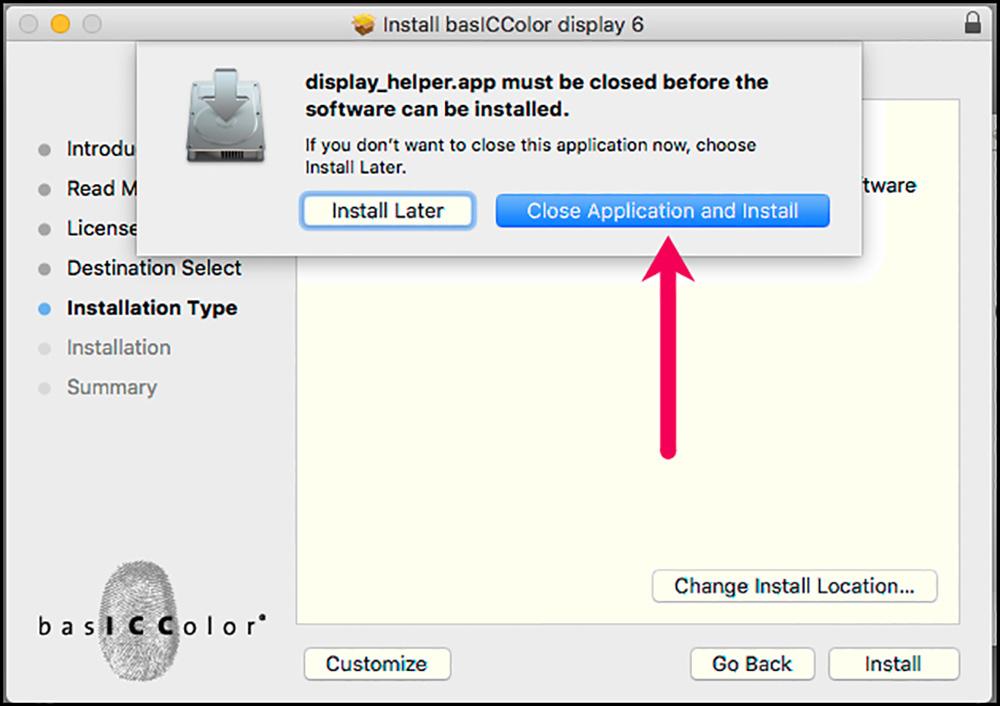 Figure A1-8 Close display 6 Helper App