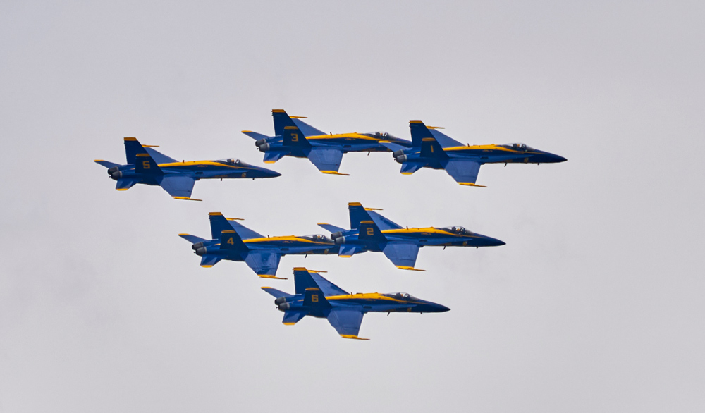 Blue Angels Fly Over
