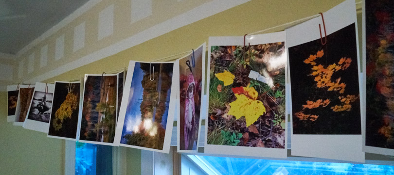 Some images we have we display like this by hanging them on a wire.