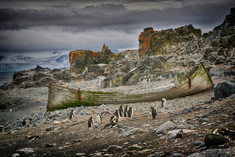Antarctica, This location on all my visits was always covered with snow. On this visit there was no snow. Climate change is taking its toll. Watch the video below on this topic.