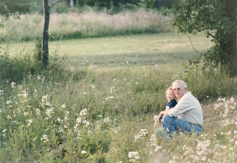 Truly a special image of my dad with older son 35 years ago. I am happy to have this print as my dad is no longer with us, but this fine memory will last forever because of this print
