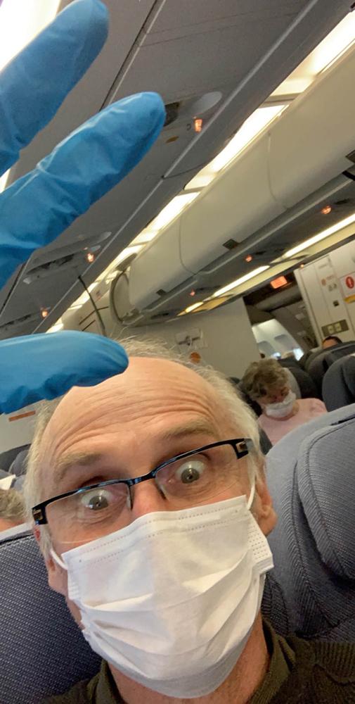 The flight back to Australia