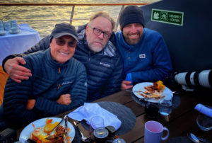 Art Wolfe, Kevin Raber and Michael Durr at the barbeque