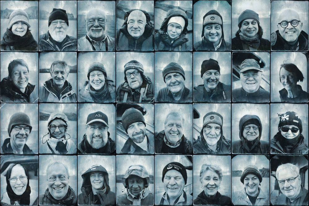 Portraits of those on the trip
